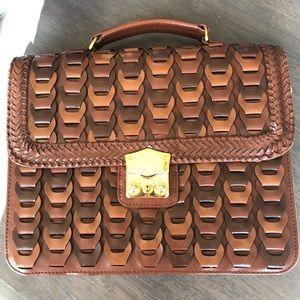 Y&S Handbags Woven Brown